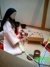 「私の勝ちよ。」(囲碁をしているミニチュアさん)(byシュウ)